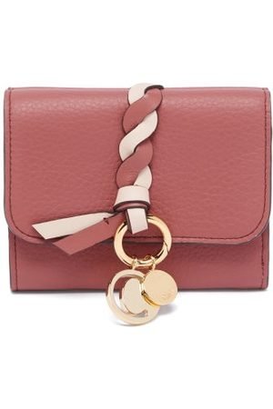 Chloé Alphabet Grained-leather Wallet - Womens - Multi
