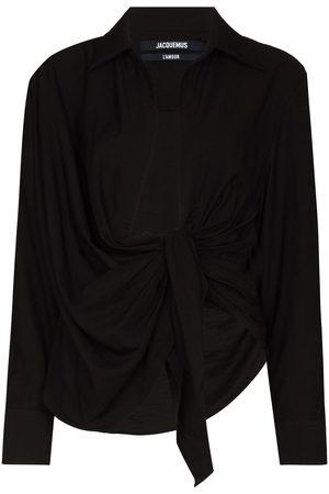 Jacquemus Bahia knot long sleeve shirt