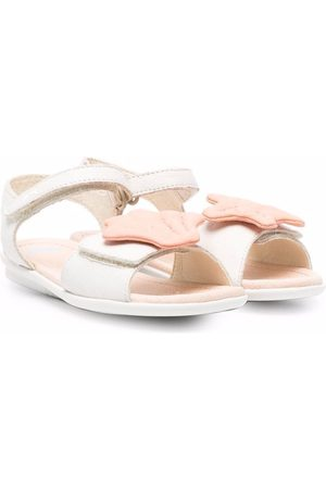 Camper Girls Sandals - Twins seashell touch-strap sandals