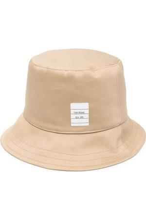 Thom Browne Men Hats - Logo-patch bucket hat