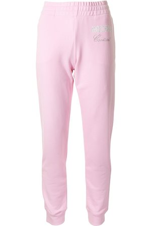 Moschino Couture crystal-embellished track pants