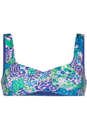Frankies Bikinis Abstract-print bikini top