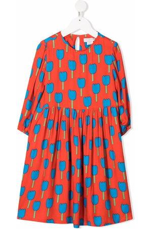 Stella McCartney Tulips-print long-sleeve dress