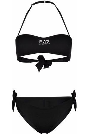 EA7 Women Bikinis - Halterneck tie-side bikini