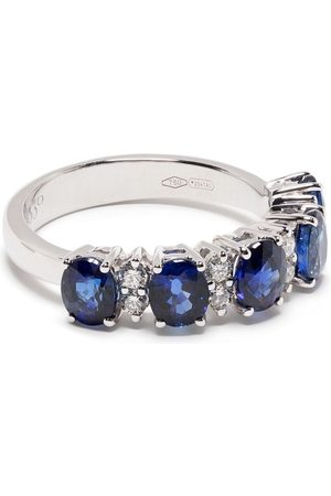LEO PIZZO 18kt white gold sapphire Eternity band ring