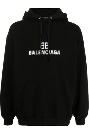 Balenciaga Men Hoodies - Pixel logo-print hoodie