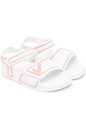 Emporio Armani Touch-strap embossed logo sandals