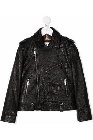 Philipp Plein Junior Iconic Plein biker jacket