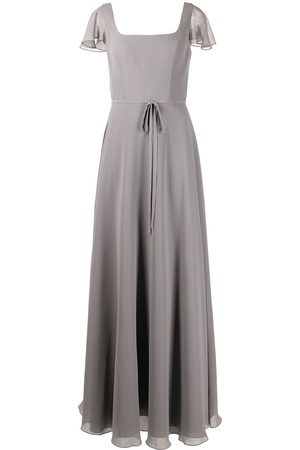 Marchesa Notte Bridesmaids Flutter-sleeve bridesmaid gown