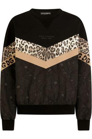 Dolce & Gabbana Men Sweatshirts - Patchwork chevron sweatshirt