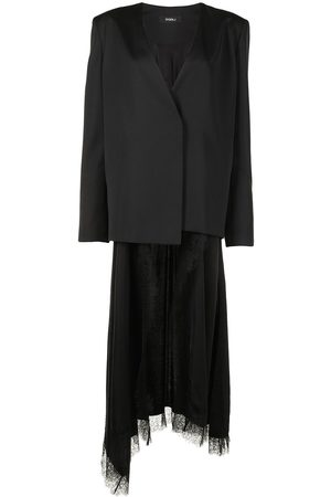 GOEN.J Silk-wool blend wrap blazer