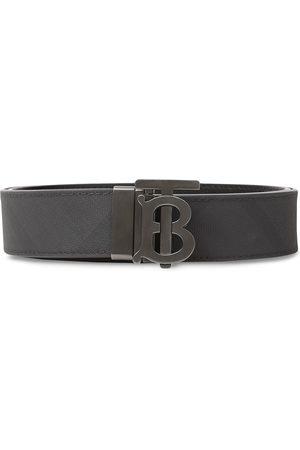 Burberry Men Belts - Monogram motif London check belt
