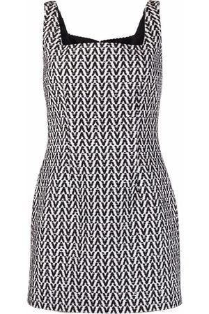 VALENTINO Square-neck sleeveless dress