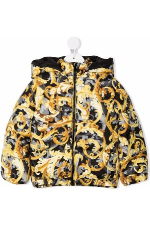 Versace Kids Winter Jackets - Baroccoflage-print puffer jacket