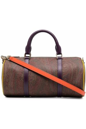Etro Paisley-print cylindrical tote bag