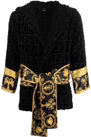 VERSACE Bathrobes - Barocco-print cotton robe