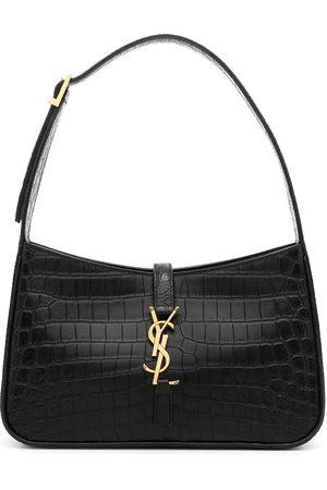 Saint Laurent Women Shoulder Bags - Crocodile-effect shoulder bag