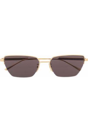 Bottega Veneta Eyewear Rectangle-frame tinted sunglasses