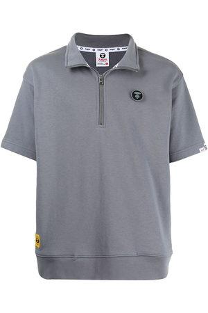 AAPE BY A BATHING APE Zipped short-sleeve sweatshirt