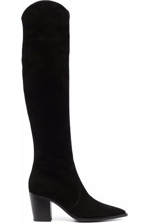 Gianvito Rossi Over-the-knee pointed boots