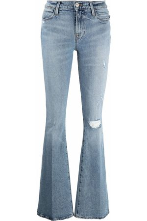 Frame Ripped flared jeans