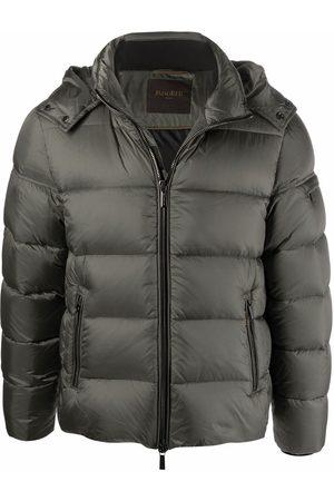 MOORER Padded hooded jacket