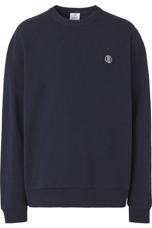 Burberry Men Sweatshirts - Monogram-appliqué cotton sweatshirt