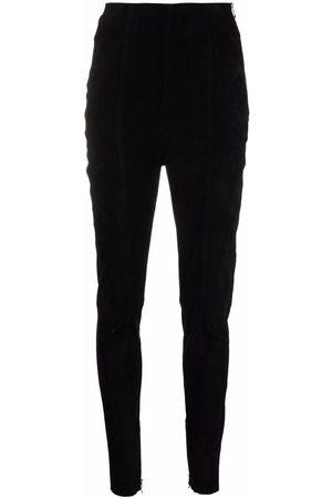 Balmain Women Formal Pants - High-waisted corduroy-detail trousers