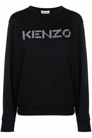 Kenzo Women Sweatshirts - Logo-print cotton sweatshirt