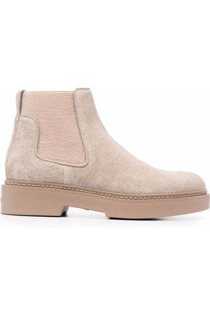 santoni Slip-on suede ankle boots