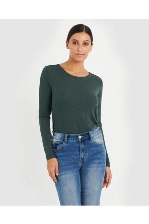 Forcast Erica Long Sleeve Tee - Long Sleeve T-Shirts (Dark ) Erica Long Sleeve Tee
