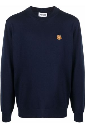 Kenzo Men Sweaters - Tiger logo-patch jumper