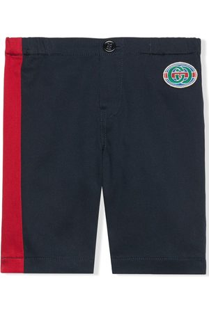 Gucci Kids Vintage Gucci logo patch chino trousers