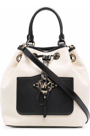 Michael Kors Two-tone leather-trim bucket bag