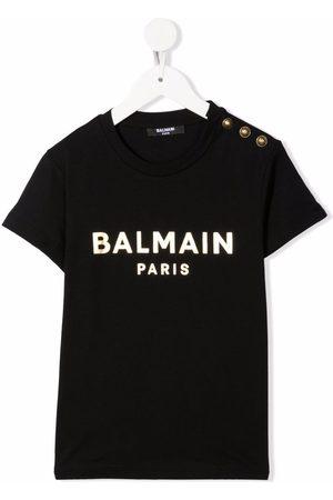 Balmain Kids Logo-print cotton T-shirt
