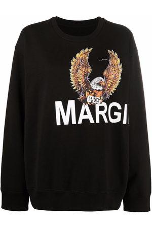 MM6 Maison Margiela Eagle-motif long-sleeved sweater