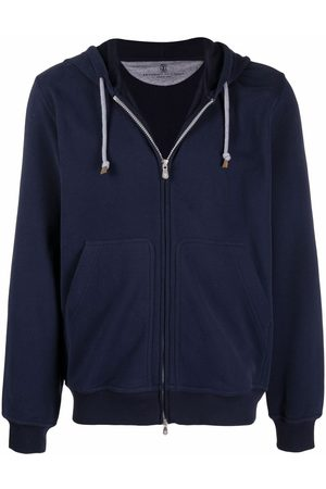 Brunello Cucinelli Zip-up stretch-fit hoodie