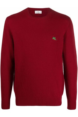 Etro Men Sweaters - Logo-embroidered wool jumper