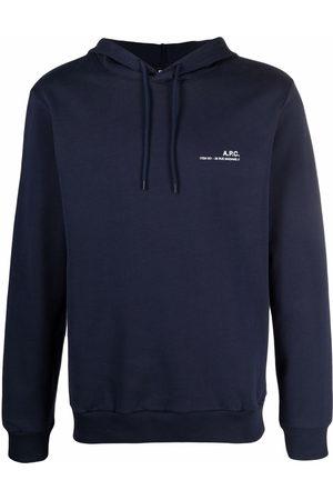 A.P.C. Logo-print pullover hoodie