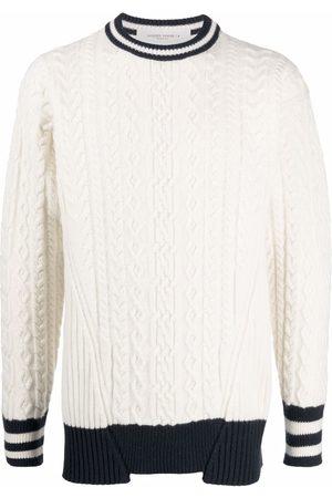 Golden Goose Men Sweaters - Journey Collection Devon contrasting-trim jumper