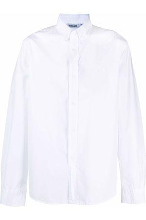 Kenzo Tiger-embroidered cotton shirt