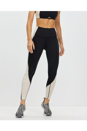 Reebok Performance Lux High Rise Colorblock Leggings - Full Tights ( /Stucco) Lux High-Rise Colorblock Leggings