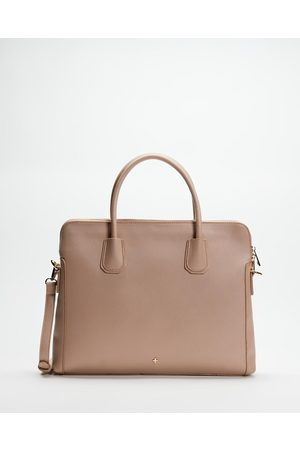 PETA AND JAIN Hustle Laptop Bag - Handbags (Nude Saffiano) Hustle Laptop Bag