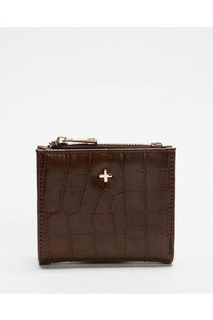 PETA AND JAIN Joey Bifold Wallet - Wallets (Chocolate Croc) Joey Bifold Wallet