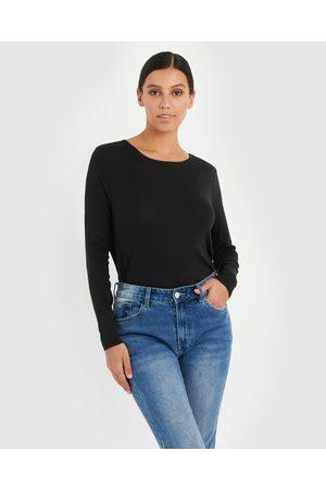 Forcast Erica Long Sleeve Tee - Long Sleeve T-Shirts Erica Long Sleeve Tee