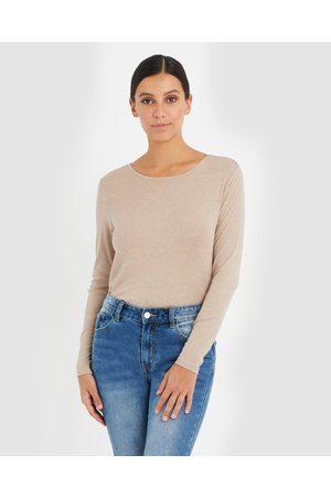 Forcast Erica Long Sleeve Tee - Long Sleeve T-Shirts (Oatmeal) Erica Long Sleeve Tee