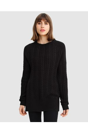 Belle & Bloom At Last Cable Knit Jumper with Slit - Jumpers & Cardigans At Last Cable Knit Jumper with Slit