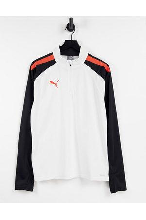 PUMA Football Liga 1/4 zip top in white