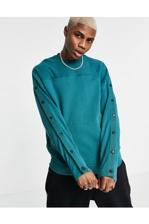 ASOS Outfit Sets - Co-ord oversized sweatshirt with press-studs in green