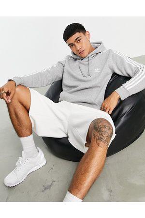 adidas Originals Adicolor three stripe hoodie in grey